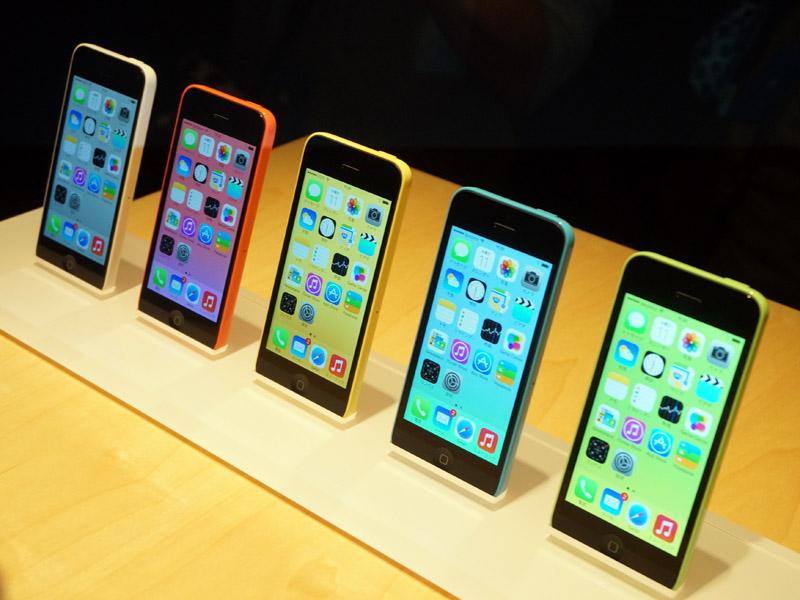 iPhone 5cの5色