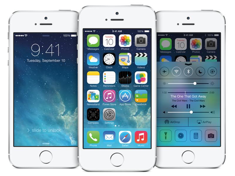 iPhone 5sでiOS 7