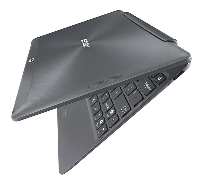 専用のモバイルキーボードドックを装着するとノートPCのように利用可能で、動作時間も延長できる