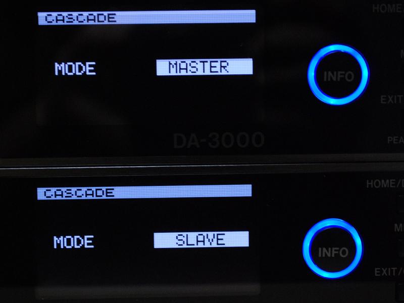 1台をMASTERに、もう1台をSLAVEに設定