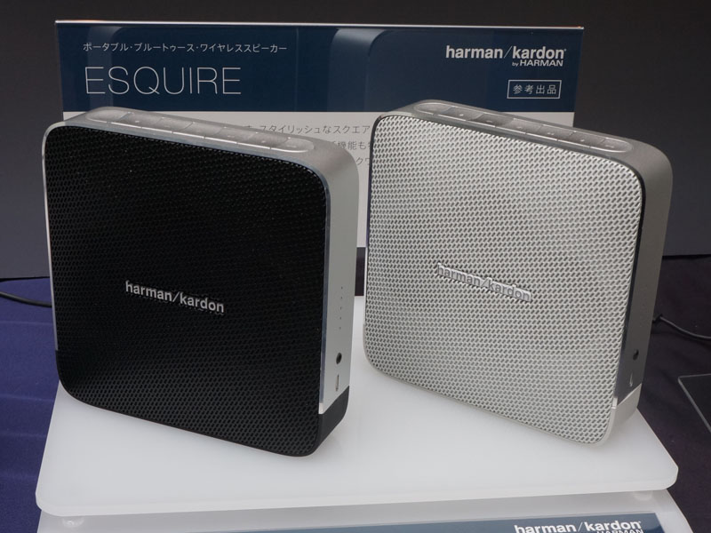スクエア・デザインの一体型Bluetoothスピーカー「ESQUIRE」