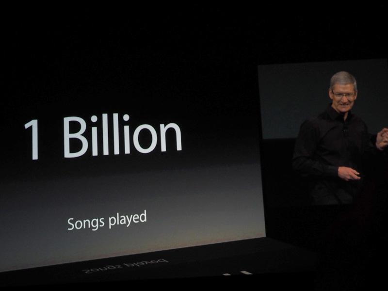 米国で展開されているiTunes Radioでは10億曲以上が聴かれているという