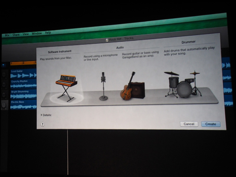 GarageBand(Mac OS X Marvericks)