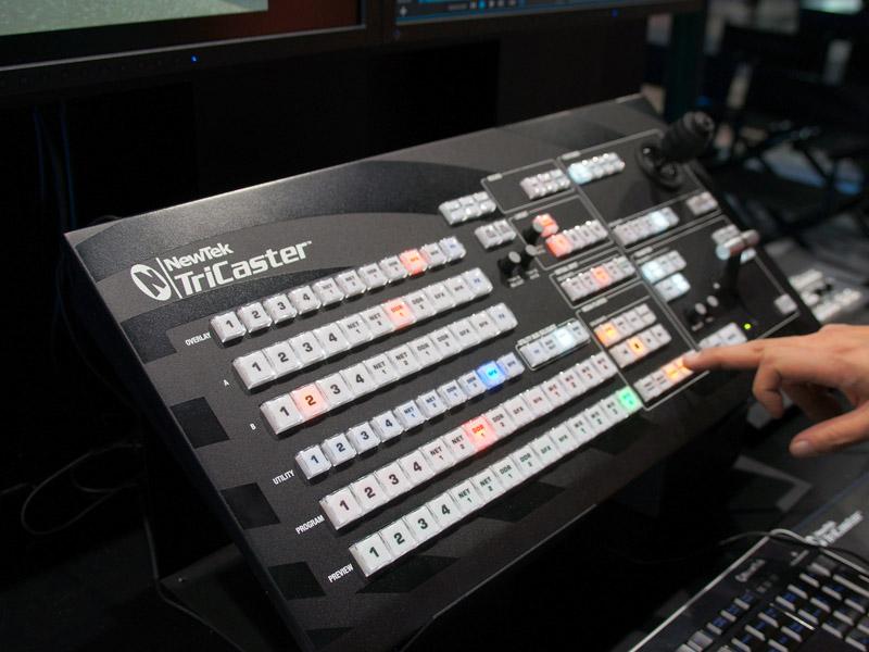 コントロールパネルも新しくなったTriCaster 410