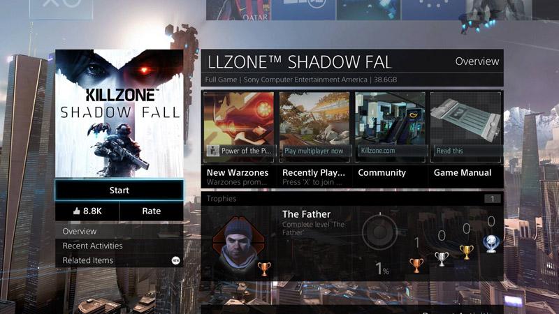 ゲームのパネルからカーソルを「下」へ動かすと、ゲームの詳細情報が表示される。
