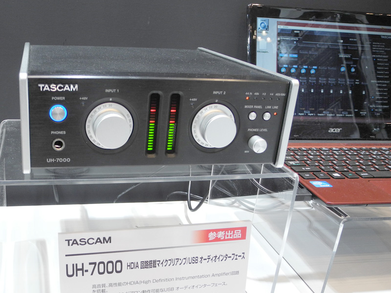 TASCAMの「UH-7000」は2入力2出力