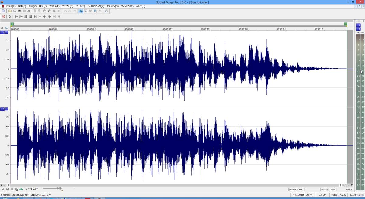 24bitのオーディオを12dBも上げると、音が割れてしまった