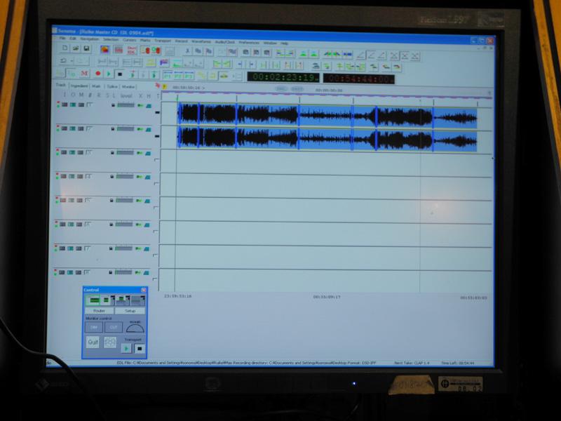 Sonomaの画面。波形表示を見る限り、PCMの編集画面とあまり変わらないようだ