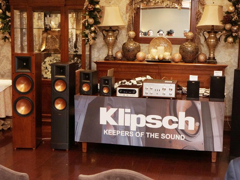 発表会場ではKlipschのスピーカーも展示された
