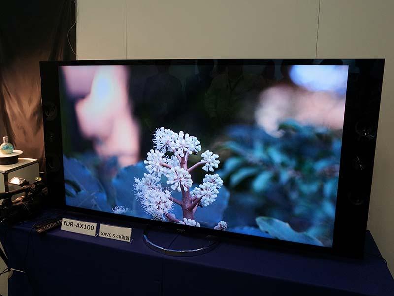 FDR-AX100からHDMI経由でテレビに4K出力