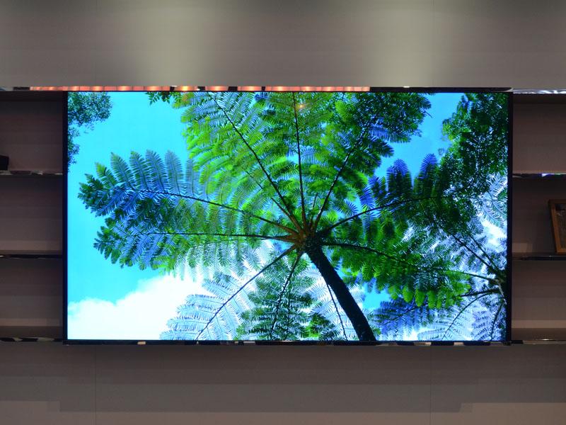 65インチ平面4Kテレビ。白色LEDバックライトを直下型で実装。ハイダイナミックレンジ復元に対応。製品化の予定あり
