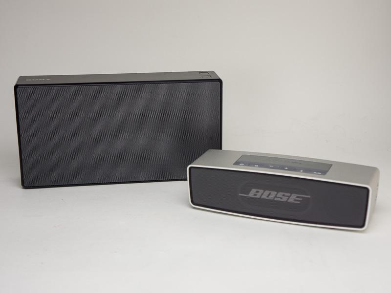 左が「SRS-X5」、右が「SoundLink Mini」