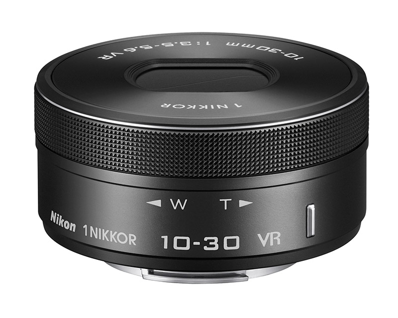 標準ズームレンズ「1 NIKKOR VR 10-30mm f/3.5-5.6 PD-ZOOM」のブラックとホワイト