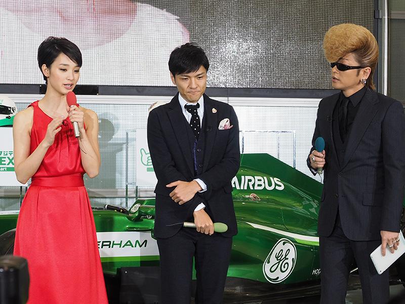 剛力彩芽さん、綾小路翔さん、森山直太朗さんが登場した
