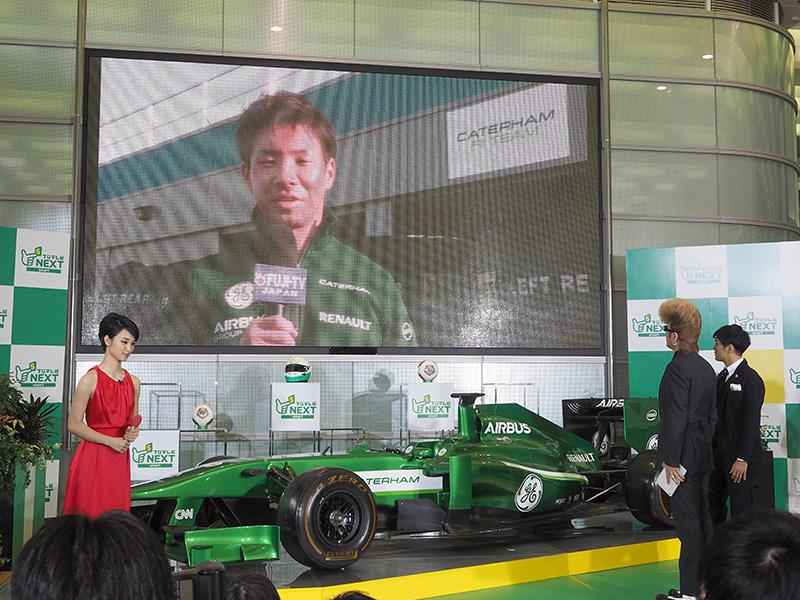 F1ドライバーの小林可夢偉選手