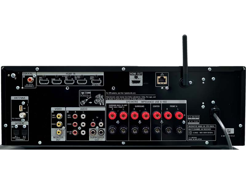 「STR-DN850」の背面