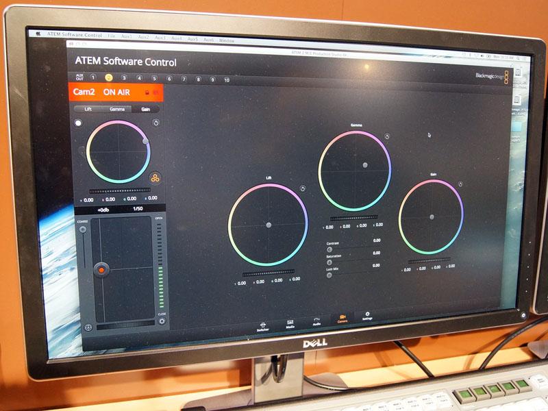 DaVinci Resolveと同様のUIでカメラ調整が可能