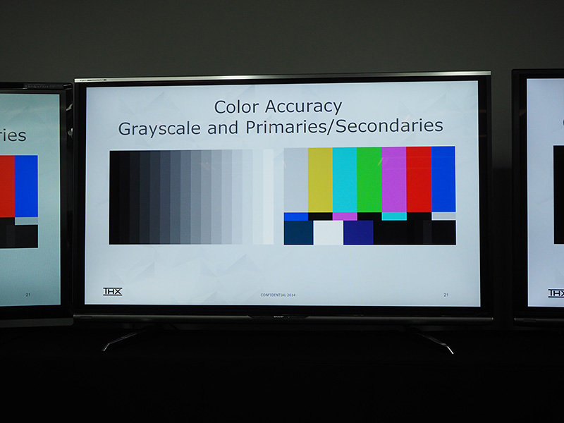 色再現の能力も詳細にチェックする