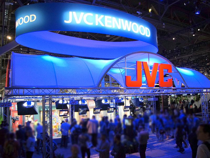 新商品を多数出展したJVCケンウッドブース