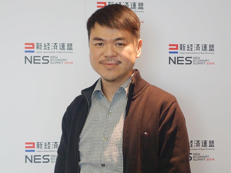 KKBOXの共同出資者兼CEOのクリス・リン氏。4月9日・10日に開かれた「新経済サミット2014」に参加するために来日した。