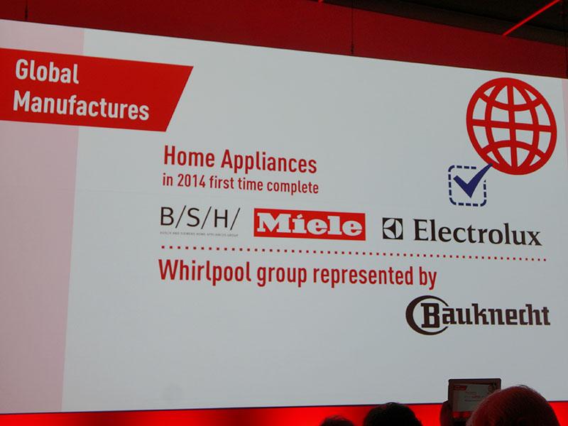 ホームアプライアンス(白物家電)も拡大。新たにBauknechtが出展