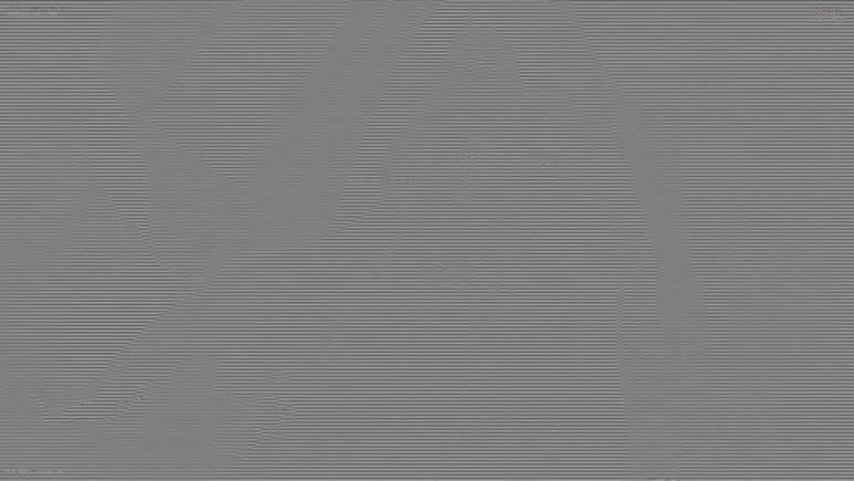 これを重ね合わせるとこのように原画像は全白表示として消し去ることができる(この図では全白ではなく全グレーとしている)