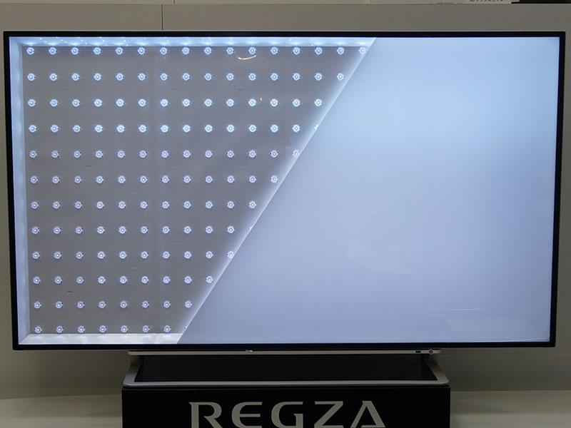 自社開発の直下型高輝度広色域ダイナミックLEDバックライト