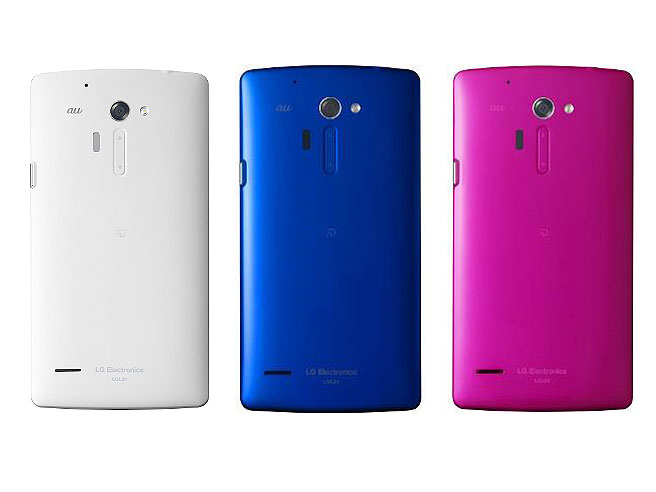 isai FL。左からホワイト、ブルー、ピンク