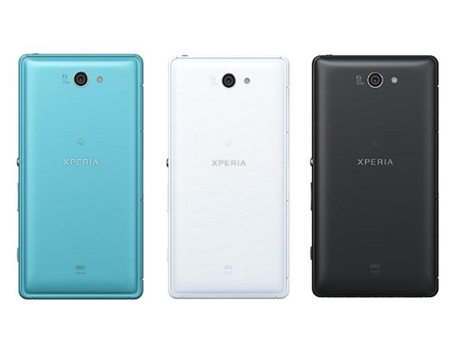 Xperia ZL2。カラーは左からターコイズ、ホワイト、ブラック