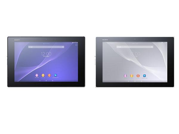 Xperia Z2 Tablet。カラーはブラック、ホワイト