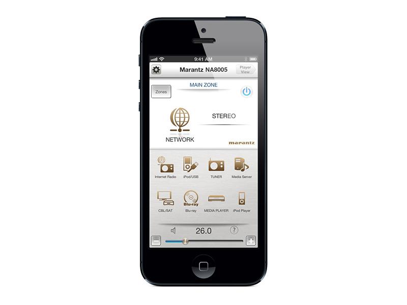 「Marantz Remote App」利用イメージ