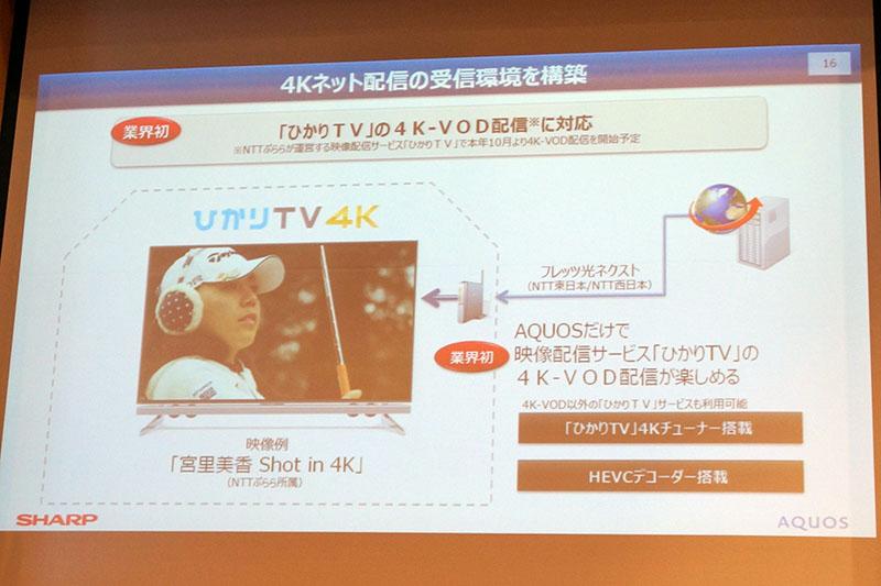 ひかりTVの4K VODに対応