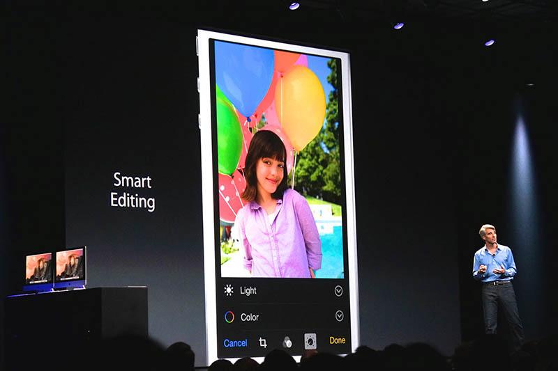 iOS 8に搭載された写真の「Smart Editing」。写真の明るさや色合いなどの調整が、より詳細でありながら簡単に行えるようになった