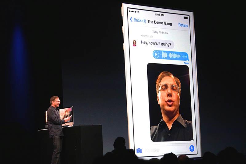 iMessageでのマルチメディアコミュニケーション機能が強化。ライバル対抗の意味合いが強そうだ