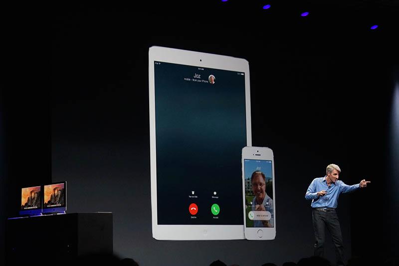 Macでだけでなく、iPadでも電話の着信が可能
