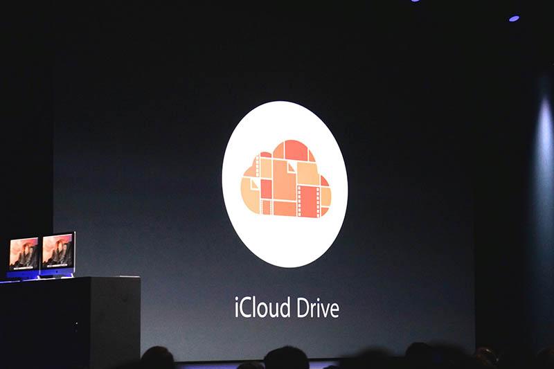 iCloud Driveのロゴ。従来のiCloudを、より普通のネットストレージと融合したような存在だ