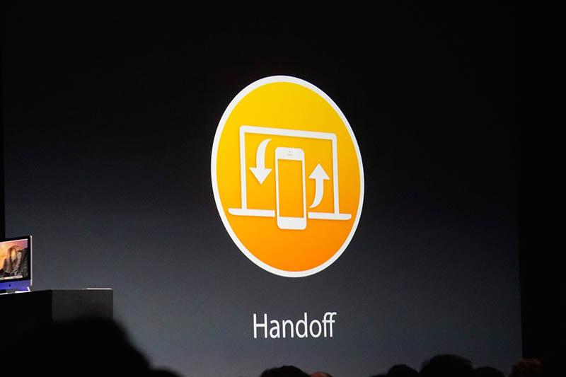 Handoffのアイコン。iPhoneとMacの間をつなぐ、というわかりやすいイメージだ。