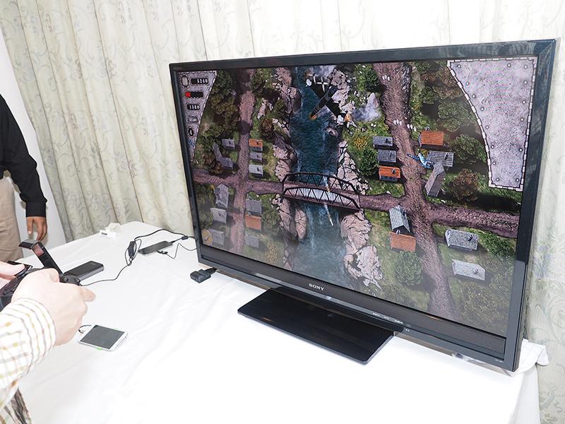 BRAVIAと接続、スマホとBluetooth接続したコントローラで大画面のゲームを楽しむ
