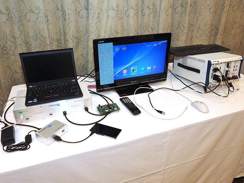 Simplay Labsは、HDCP 3.0対応プロトコルアナライザ「SL-8800」などを展示