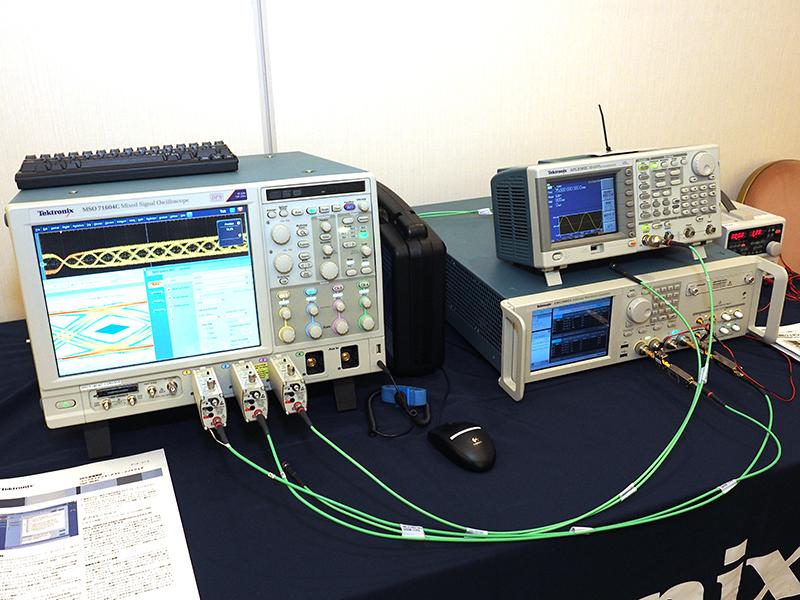 テクトロニクスの任意波形ジェネレータやオシロスコープなどを使ったMHLコンプライアンステスト