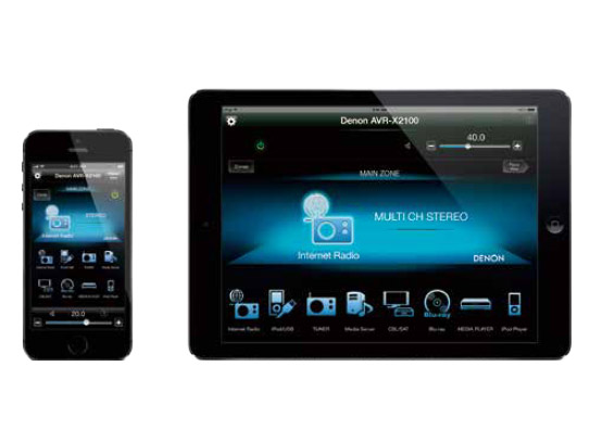 iOS/Android向けのアプリ「Denon Remote App」