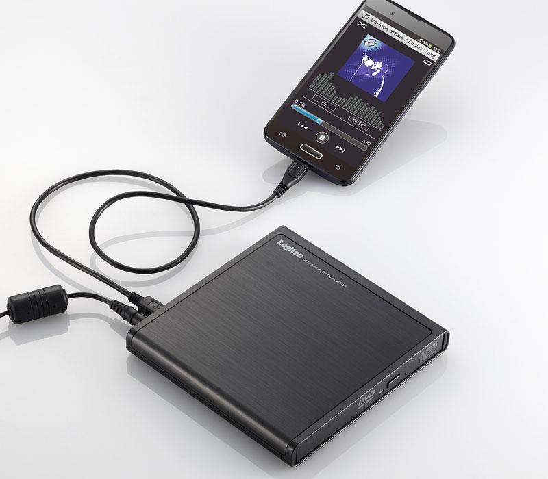 パソコンを使わず音楽CDを直接取り込める、CDドライブ「LDV-PMH8U2R」。使用イメージ