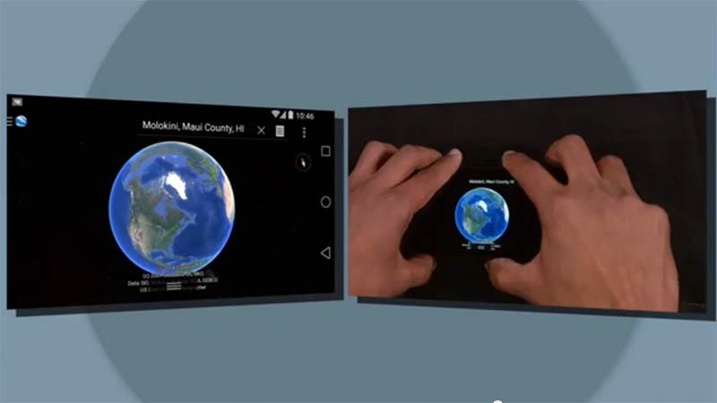 Chromecastはミラーリング対応。Google Earthをテレビに表示