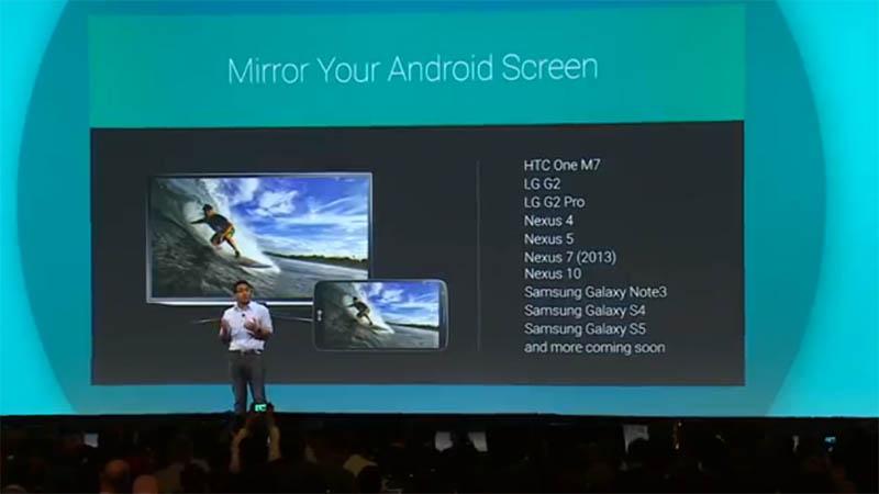 NexusシリーズやGalaxy Note3などがミラーリング対応