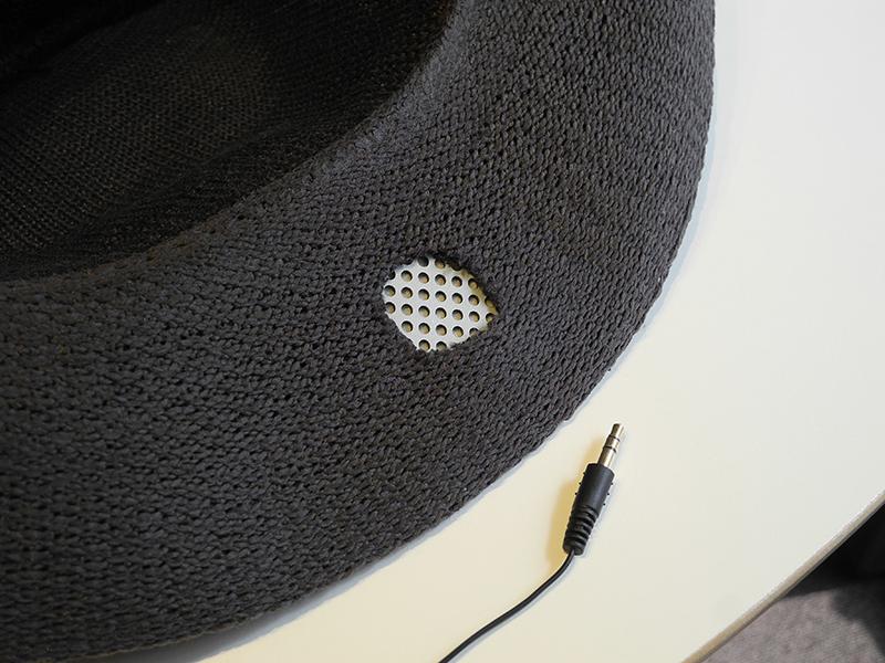 帽子型のスピーカーも作ってみたとのこと