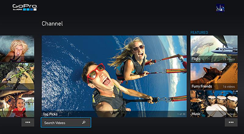GoProアプリの画面