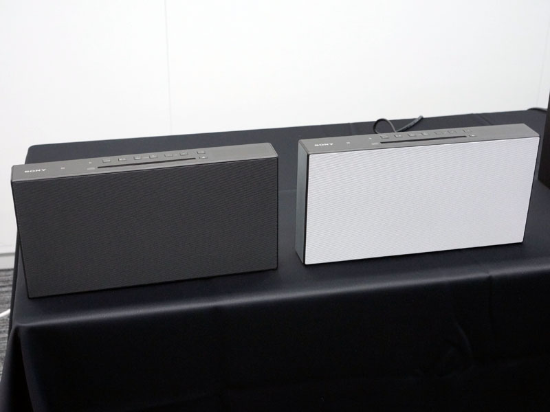 「CMT-X3CD」。左からブラック、ホワイト