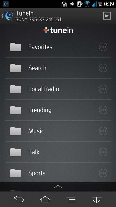 世界各国のラジオやインターネットラジオが聴取できる「tunein」