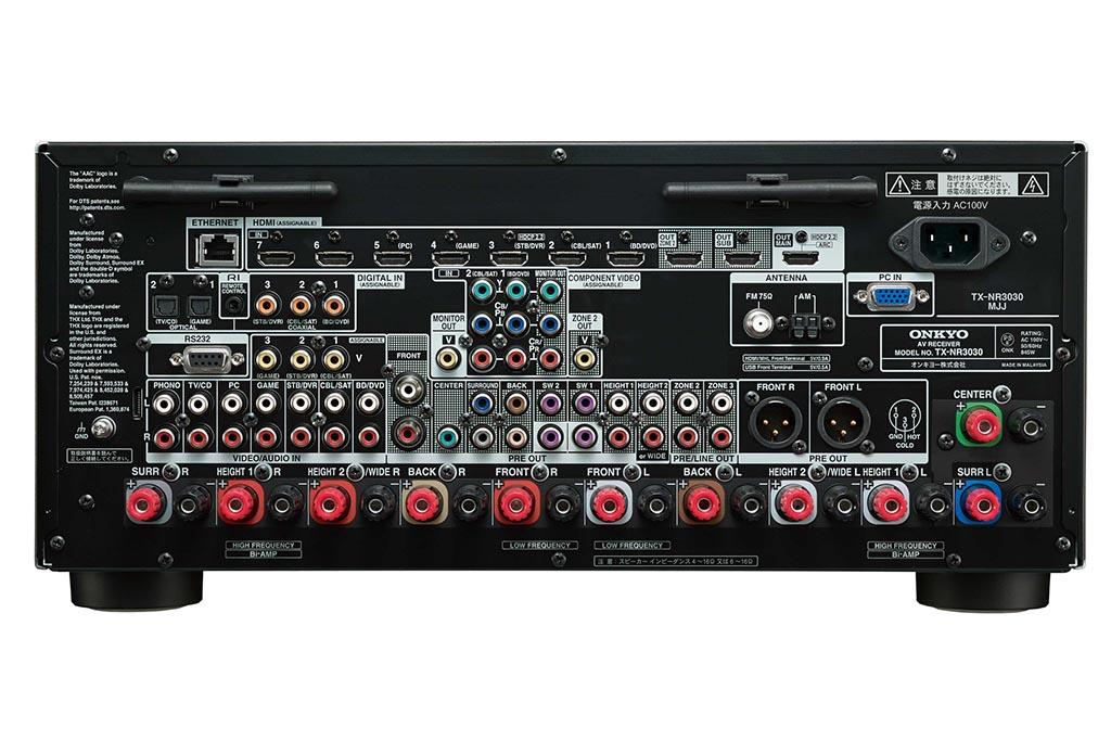 TX-NR3030の背面
