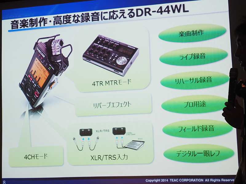 DR-44WLの特徴と、主な用途